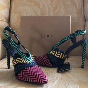 Zara Cut-out Slingback Pumps